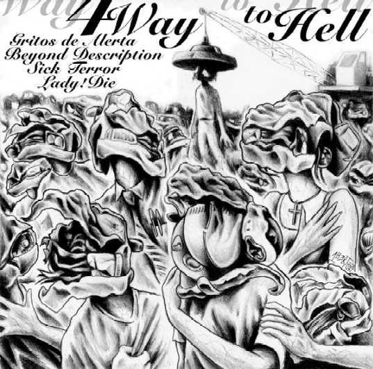 V/A - 4 WAY TO HELL - COMPILATION 7""